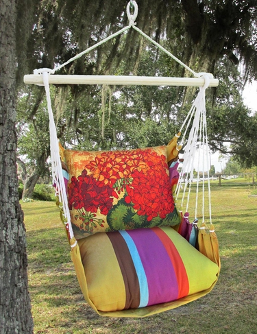 Cafe Soleil Full Bloom 3 Hammock Chair Swing Set - Click to enlarge