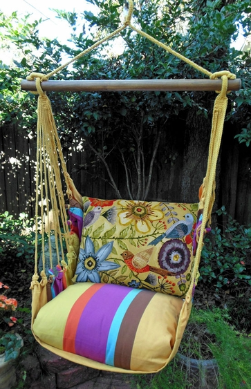 Cafe Soleil McKenzie's Garden Hammock Chair Swing Set - Click to enlarge