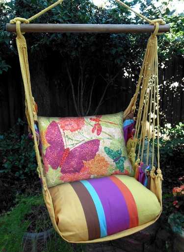 Cafe Soleil Nature Butterflies Garden Hammock Chair Swing Set - Click to enlarge