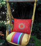Cafe Soleil Sunburst Shield Hammock Chair Swing Set