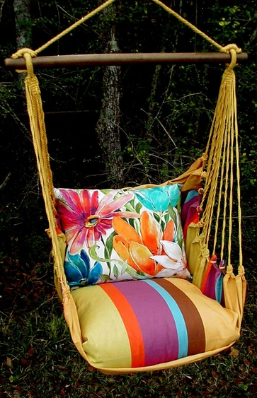 Cafe Soleil Tropical 1 Hammock Chair Swing Set - Click to enlarge
