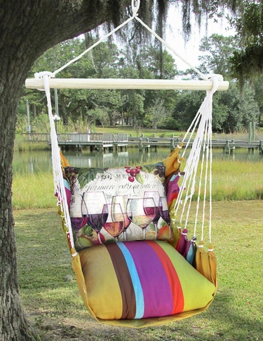 Cafe Soleil Wine Line Hammock Chair Swing Set - Click to enlarge