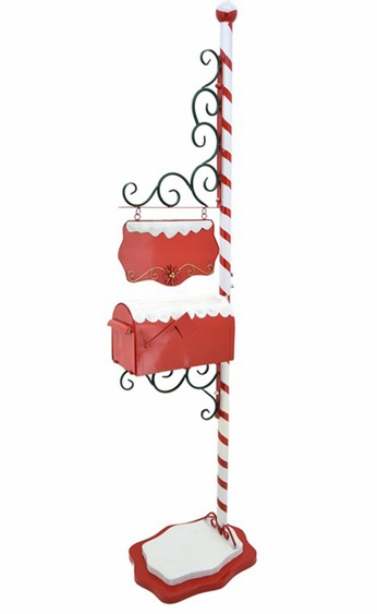 Candy Cane Christmas Mailbox - Click to enlarge