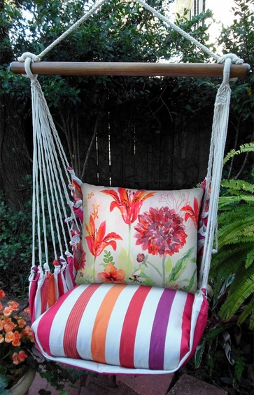 Cristina Stripe Aviary Bumblebee Hammock Chair Swing Set - Click to enlarge