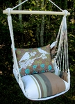 Cappuccino Duet Bird Hammock Chair Swing Set