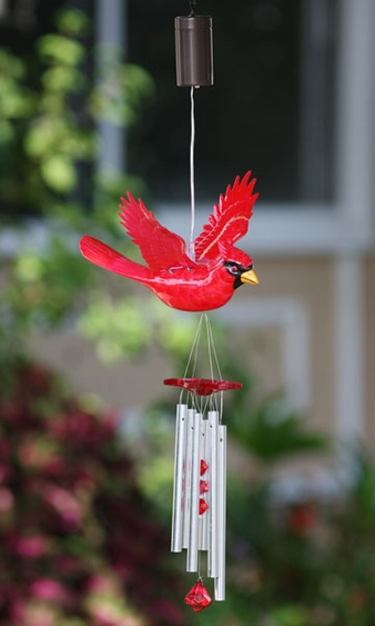Cardinal LED Light Wind Chime - Click to enlarge