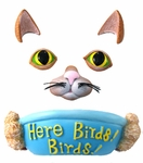 Cat Tree Face Bird Feeder