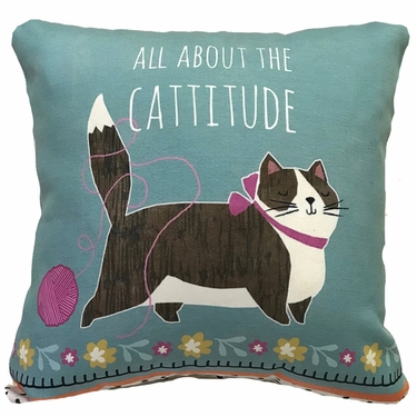 Cattitude Outdoor Pillow - Click to enlarge