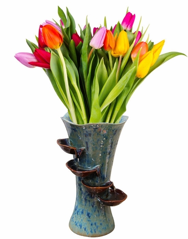 Ceramic Flower Vase Fountain - Click to enlarge