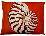 Chambered Nautilus Outdoor Pillow