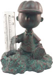 Charlie Brown Rain Gauge - Patina Bronze