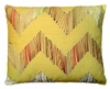 Chevron Big Yellow Outdoor Pillow