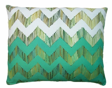 Chevron Small Green Outdoor Pillow - Click to enlarge