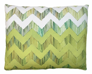 Chevron Small Yellow Outdoor Pillow - Click to enlarge