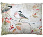 Chickadees Outdoor Pillow