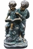 Children Reading Together Statue