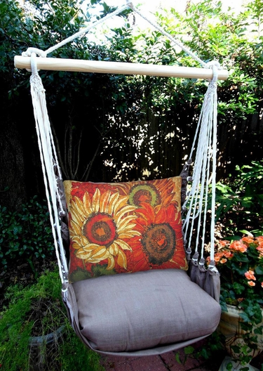 Chocolate Fall Bloom 1 Hammock Chair Swing Set - Click to enlarge