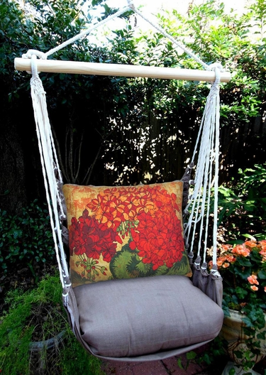 Chocolate Fall Bloom 3 Hammock Chair Swing Set - Click to enlarge