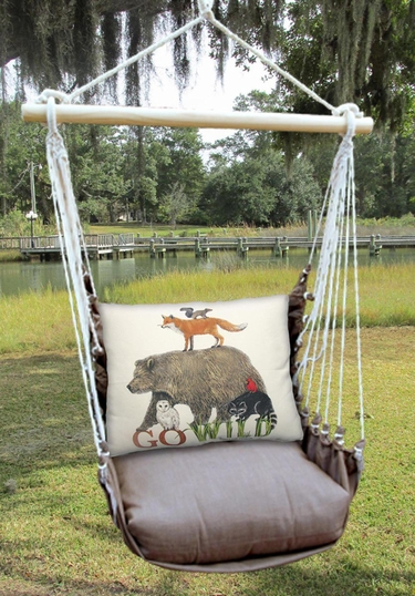 Chocolate Go Wild Hammock Chair Swing Set - Click to enlarge