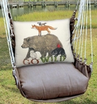 Chocolate Go Wild Hammock Chair Swing Set