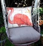 Chocolate Grand Flamingo Hammock Chair Swing Set