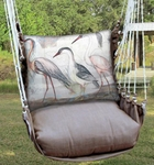 Chocolate Herons Marching 3 Hammock Chair Swing Set