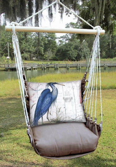 Chocolate Majestic Heron Hammock Chair Swing Set - Click to enlarge