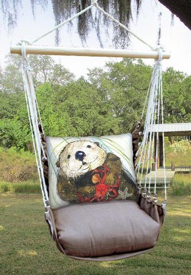 Chocolate Otter Hammock Chair Swing Set - Click to enlarge