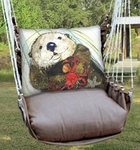 Chocolate Otter Hammock Chair Swing Set
