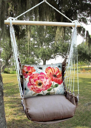 Chocolate Perennial Garden 1 Hammock Chair Swing Set - Click to enlarge