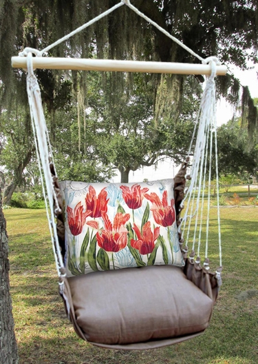 Chocolate Perennial Garden 2 Hammock Chair Swing Set - Click to enlarge