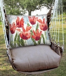 Chocolate Perennial Garden 2 Hammock Chair Swing Set