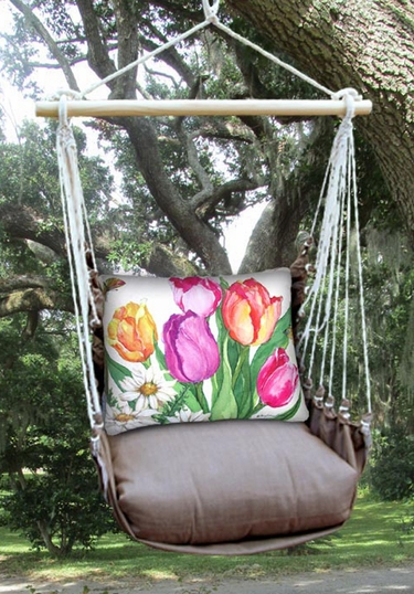 Chocolate Spring Bouquet Hammock Chair Swing Set - Click to enlarge