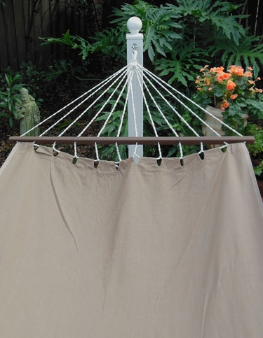 Chocolate Sundure Fabric Hammock - Click to enlarge
