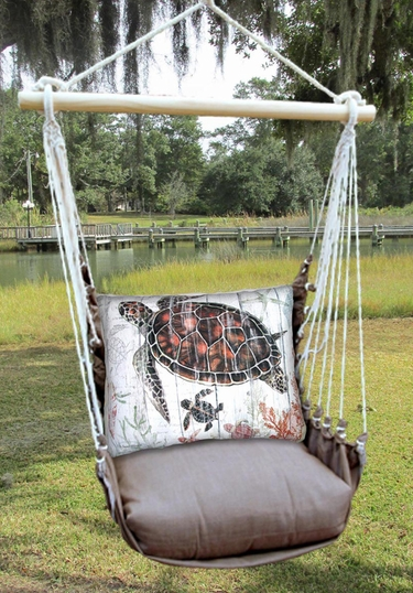 Chocolate Turtle Baby Hammock Chair Swing Set - Click to enlarge