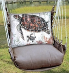 Chocolate Turtle Baby Hammock Chair Swing Set