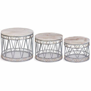 Christmas Drum Decor (Set of 3) - Click to enlarge