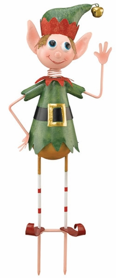 Christmas Elf Garden Stake - Click to enlarge