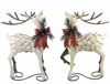 Iron Christmas Reindeer (Set of 2)