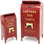 Christmas Santa Mailboxes (Set of 2) + Free Gift!