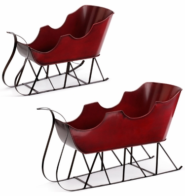 Christmas Table Sleighs (Set of 2) - Click to enlarge