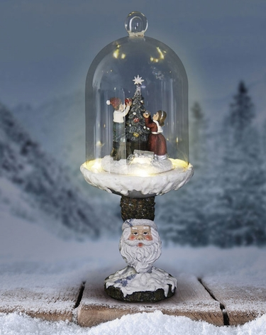 Christmas Tree Dome on Santa Pedestal w/LED Timer - Click to enlarge