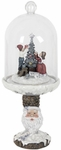 Christmas Tree Dome on Santa Pedestal w/LED Timer