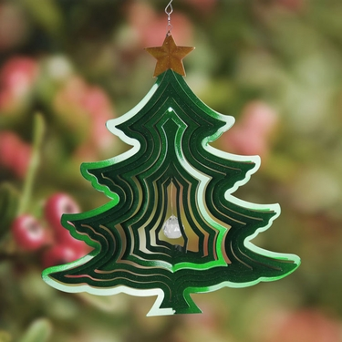 Christmas Tree Wind Spinner - Click to enlarge