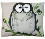 Chubby Owl Outdoor Pillow