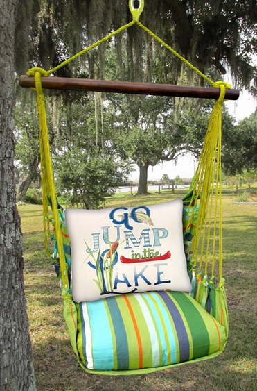 Citrus Jump in the Lake Hammock Chair Swing Set - Click to enlarge