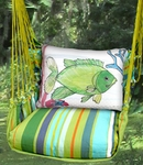 Citrus Stripe Fish w/Coral Hammock Chair Swing Set