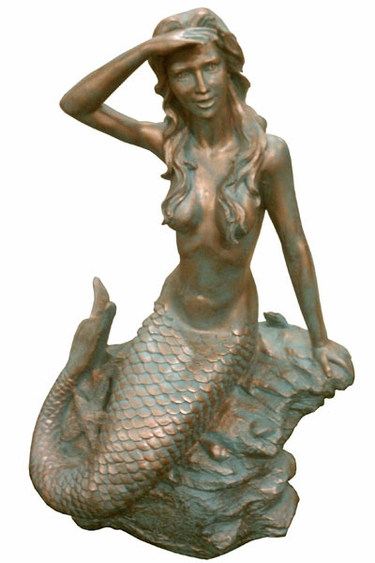 Garden Statue Outdoor Mermaid Decor
