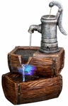 Classic Pump & Barrels Outdoor Fountain