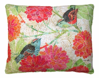 Colors of Nature 2 Birds Outdoor Pillow - Click to enlarge